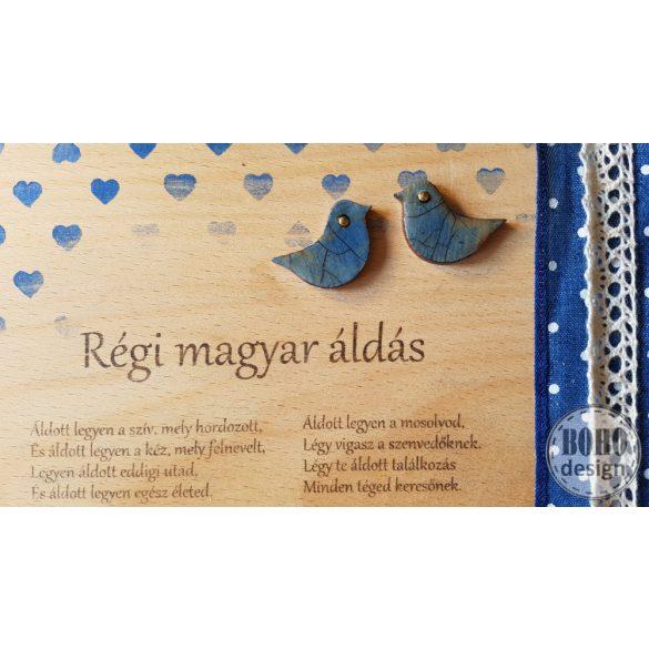 Régi magyar áldás fatábla (21x30 centi kb)