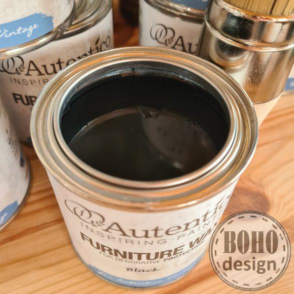 Fekete antikoló bútorviasz - Autentico