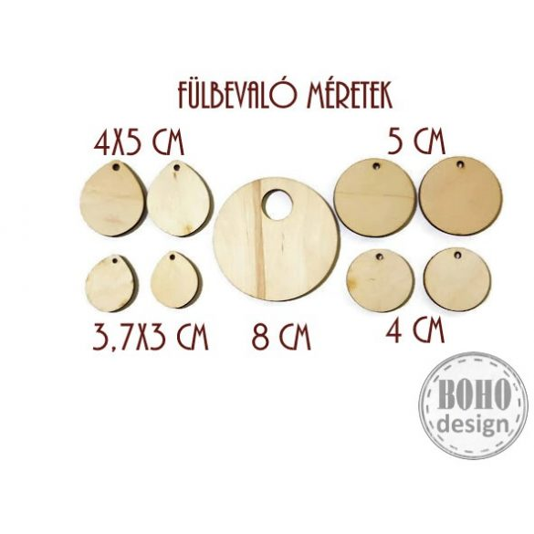 Arany mintás II. - BOHOdesign aszimmetrikus fülbevaló