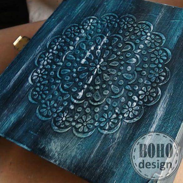bohodesign ONLINE butorfesto tanfolyam 3d stencilezes, patina workshop