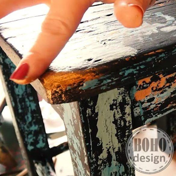 ONLINE BÚTORFESTÉS 2. Patina hatások, 3D stencilezés, bútorfestés csiszolás neélkül