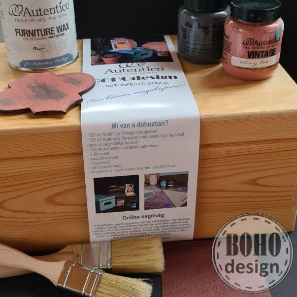 RÓZSASZÍN-SZÜRKE Autentico festődoboz- poróbáld ki a bútorfestést!