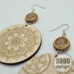 Arany mandala - aszimmetrikus fülbevaló