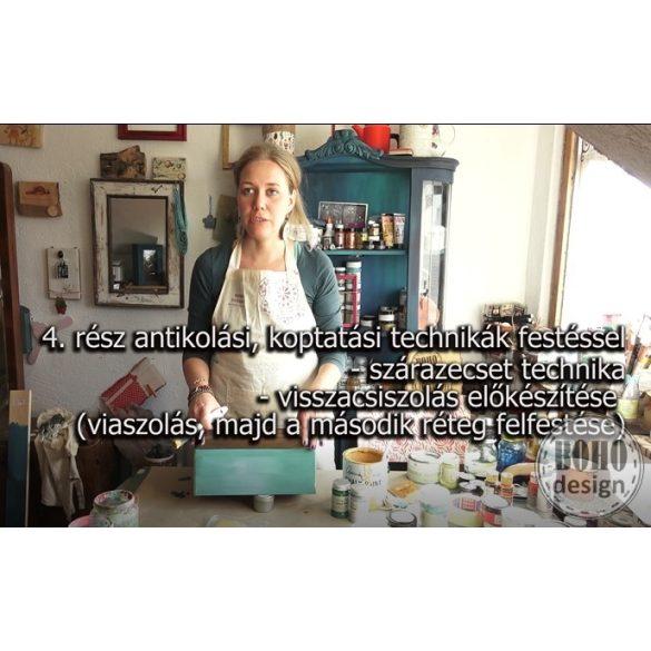 ONLINE BÚTORFESTÉS 1. ALAPTECHNIKÁK - CSAK AUTENTICO ANTIKOLÁS KURZUST VÉGZETTEKNEK