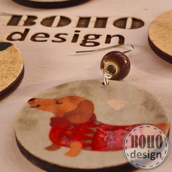 Kutyapárok 2. Tacskó és csivava  - BOHOdesign aszimmetrikus fülbevaló