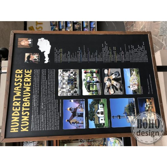 Hundertwasser aszimmetrikus BOHOdesign fulbevalo