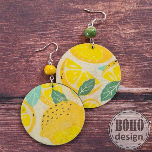 Nagy citrom - aszimmetrikus fülbevaló