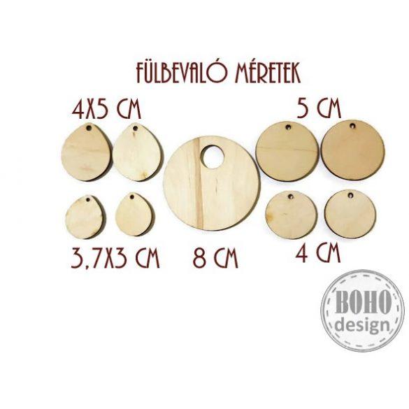 Angyalka és fenyőfa - BOHOdesign aszimmetrikus fülbevaló