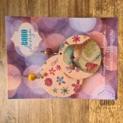 Szivecskés madár - BOHOdesign aszimmetrikus fülbevaló