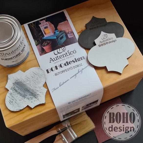 FEHÉR-BARNA Autentico festődoboz- poróbáld ki a bútorfestést!