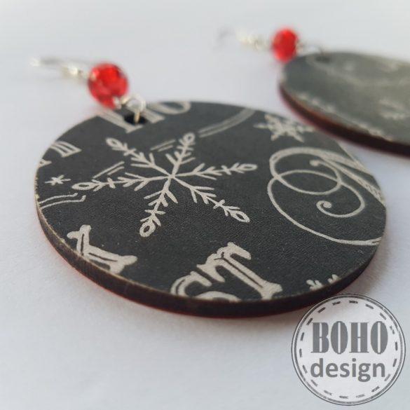 Fekete hópihe- BOHOdesign aszimmetrikus fülbevaló