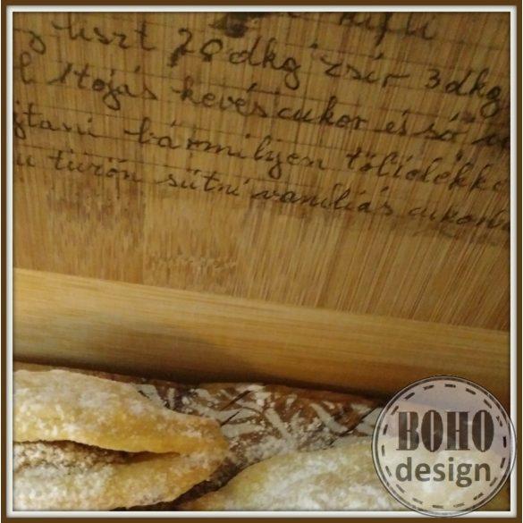 Vágódeszka különleges fára - saját, kézzel írott recepteddel (vagy a nagyiéval)