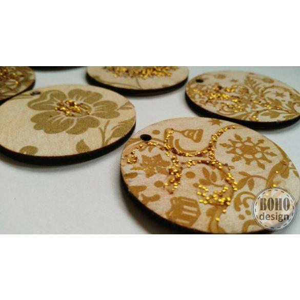 Arany mintás I. - BOHOdesign aszimmetrikus fülbevaló