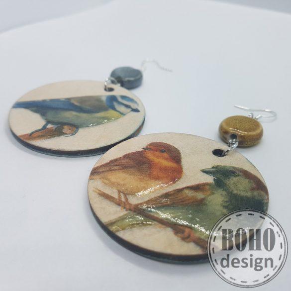 Madárkák faágon- BOHOdesign aszimmetrikus fülbevaló