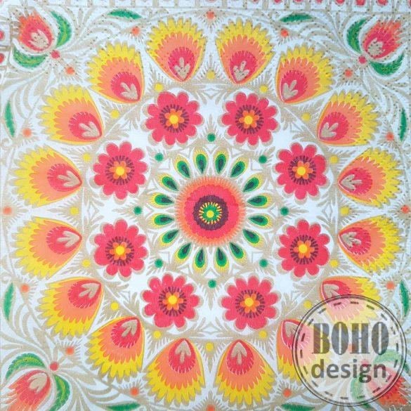 Terítő mintás aszimmetrikus BOHOdesign fulbevalo