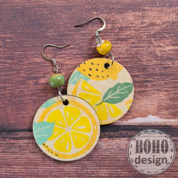 Kis citrom - aszimmetrikus fülbevaló