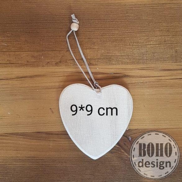 Fotótranszfer valódi FA szívecskén! 9x9 cm