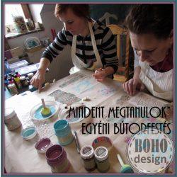bohodesign butorfesto tanfolyam antikolas stencilezes workshop